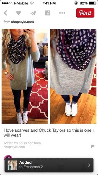 scarf infinity scarf polka dot