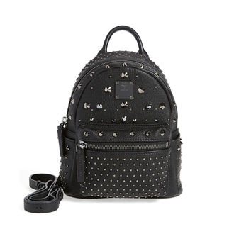 bag studded backpack black backpack studded bag leather backpack nordstrom mcm
