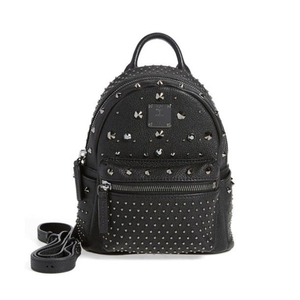 65d2735575 bag studded backpack black backpack studded bag leather backpack nordstrom  mcm