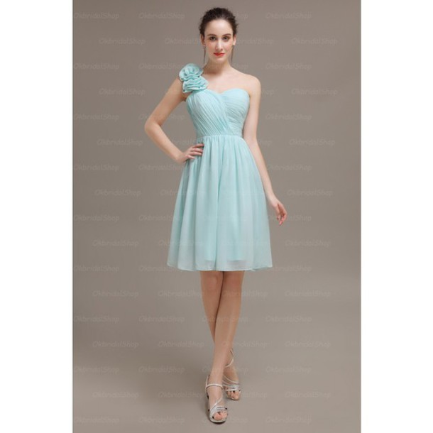 dress one shoulder bridesmaid short