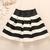 A 091205 Black And White Striped Waist Tutu Skirt on Luulla