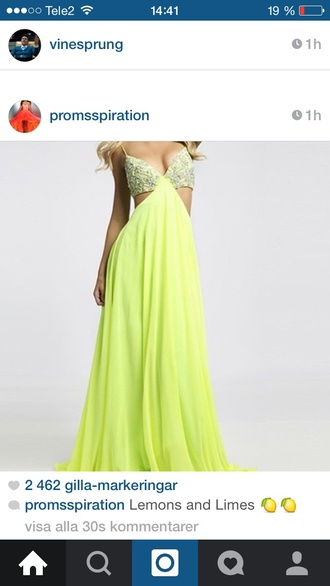 dress limegreen green sparkly prom dress gorgeous