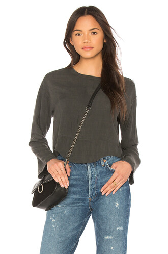 blouse charcoal top