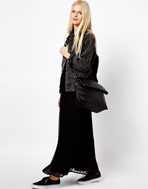 Monki | Monki Pleated Maxi Dress at ASOS