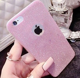 phone cover pink iphone cover iphone 6 cover iphone 6 case iphone case diamonds glitter baby pink light pink pastel pink iphone nails pink nails