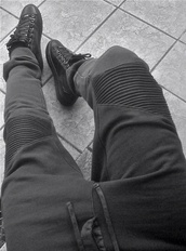 pants,ribbed,sweatpants,black,ribbed sweatpants,knee,patch,joggers,shoes