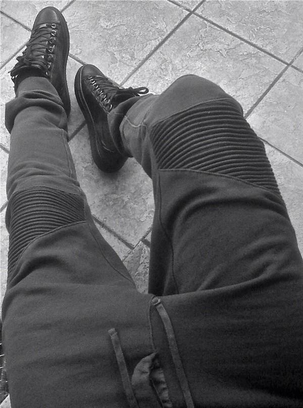 Shoes Pants Ribbed Sweatpants Black Ribbed Sweatpants