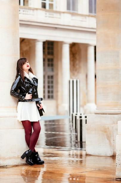 meet me in paree blogger dress jacket shoes bag