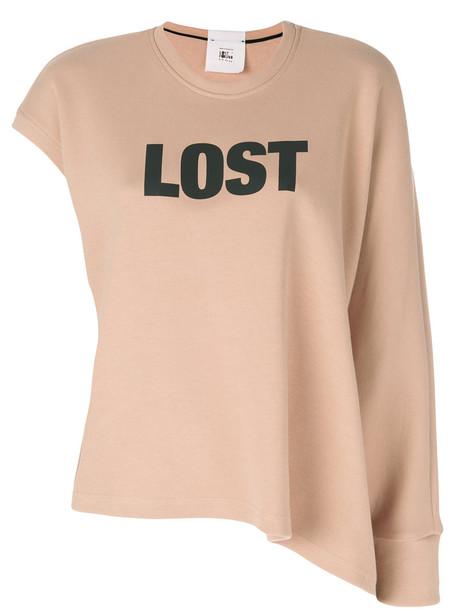 Lost & Found Rooms sweatshirt women nude cotton sweater