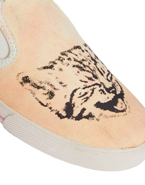 Monki | Monki Lilly Cat & Dog Slip On Trainers at ASOS