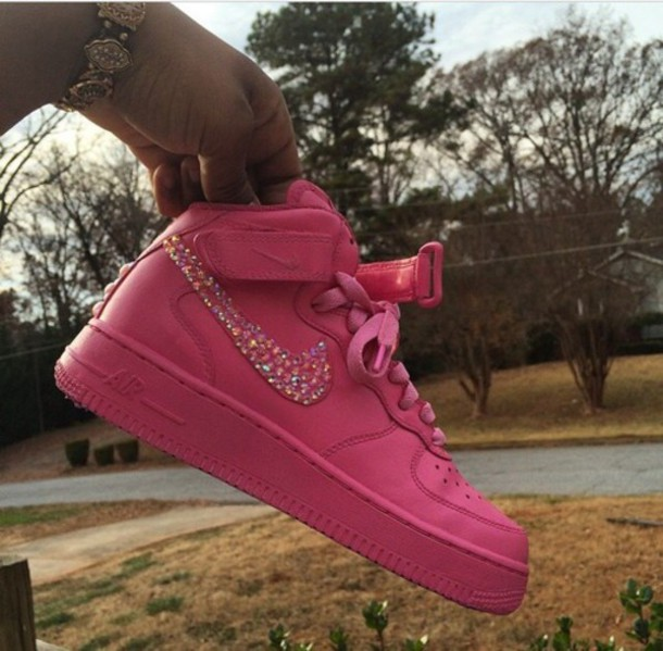 shoes sneakers pink pink neon shoes glitter nike running shoes nike shoes gorgeous gemstone pink sneakers