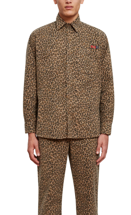 Dickies 1922 x Opening Ceremony ALL OVER LEOPARD PRINT LONG SLEEVE SHIRT
