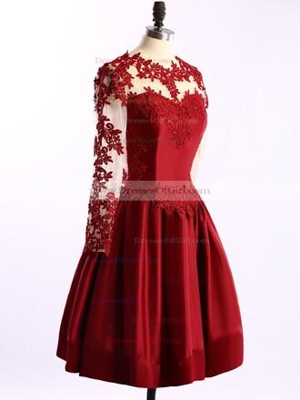 dress red prom fashion romantic classy lace homecoming dress dressofgirl