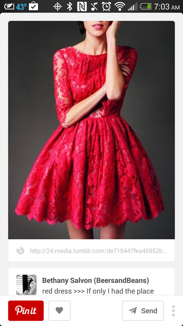 dress red dress red lace dress