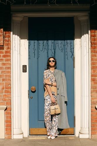 oh my blog blogger pants coat bag sunglasses shoes