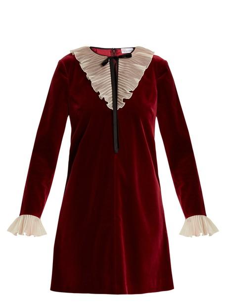 REDValentino dress mini dress mini velvet burgundy