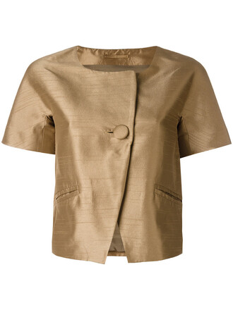 jacket cropped women brown