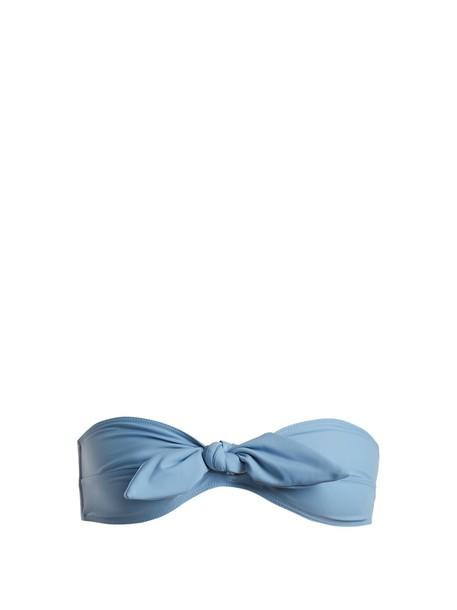 Ephemera bikini bikini top bandeau bikini blue swimwear
