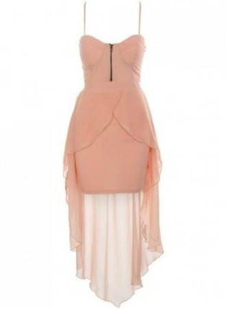 dress pink light pink pretty in pink zip high-low dresses mini sheer pinterest found on pintrest