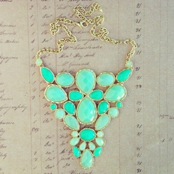 jewels necklace green