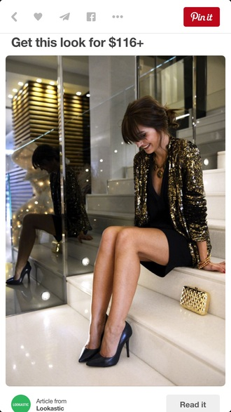 jacket blogger gold sequins