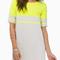 With zipper shift neon yellow dress -shein(sheinside)