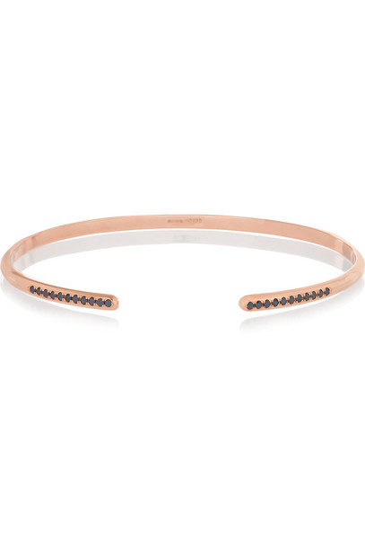 Lito Treasure Box 14-Karat Rose Gold Diamond Bracelet