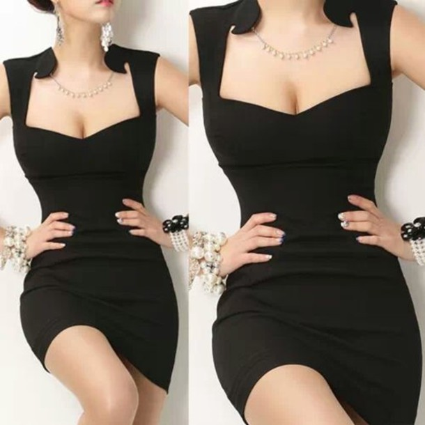 dress vintage retro little black dress