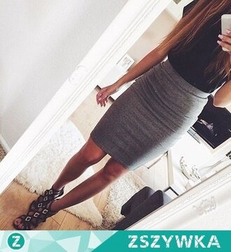 skirt clothes grey shoes blouse girl grey skirt