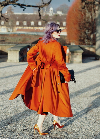 like a riot blogger rust long coat