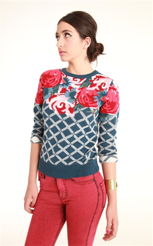 Glamorous Floral Sweater