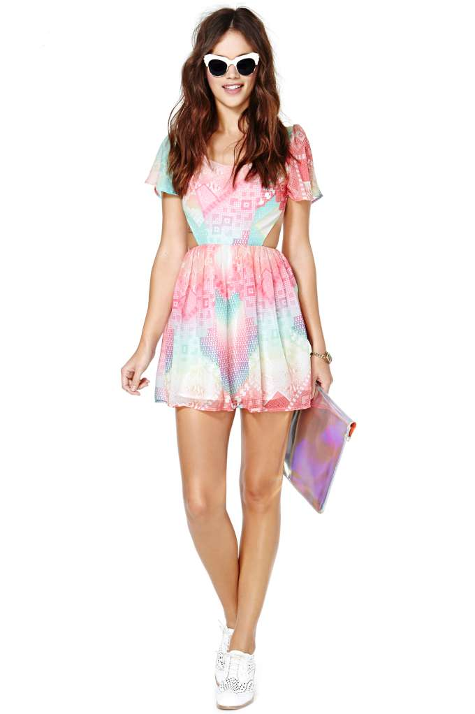 Nasty Gal Rainbow Flow Dress | Shop Lookbooks at Nasty Gal