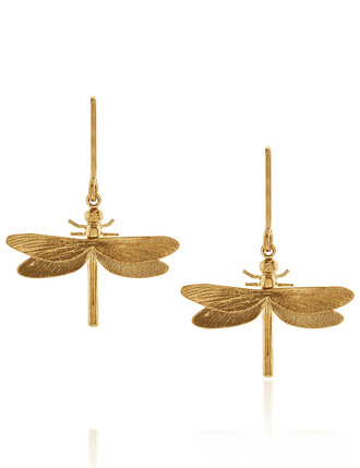 classic dragonfly earrings gold