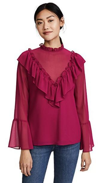 WAYF blouse ruffle top