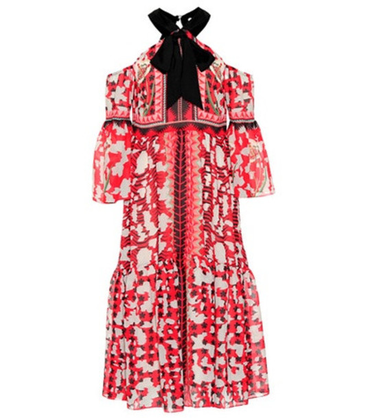 Temperley London Odyssey printed dress in red