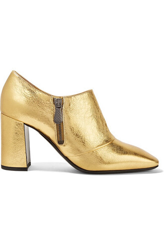leather ankle boots metallic boots ankle boots gold leather shoes