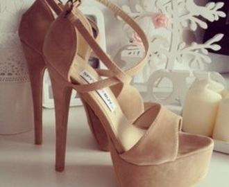 shoes high heels nude plateau