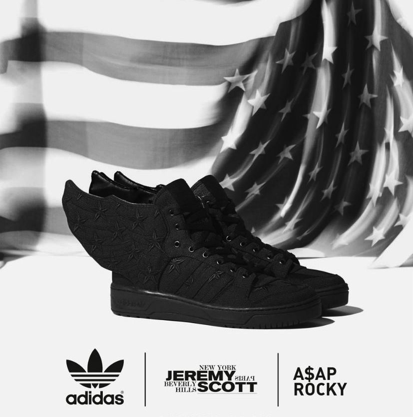 "Adidas Jeremy Scott Wings 2 0 x ASAP Rocky ""Black Flag"" D65206 Size 11 A$AP 