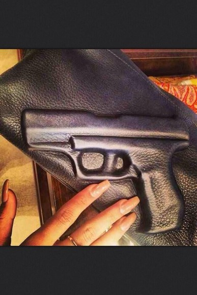 gun bag black clutch