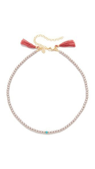 rose pearl necklace choker necklace jewels