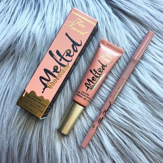 make-up too faced melted lip gloss lip liner lipstick