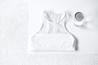 top white white top girly tomboy sports bra sportswear hipster indie fashion outfit white crop tops awesome! crop tops bustier crop top crop top bralette skater skirt boho