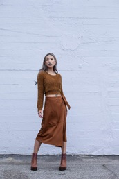 feral creature,blogger,fuzzy sweater,slit maxi skirt