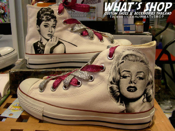 shoes audrey hepburn marylin monroe