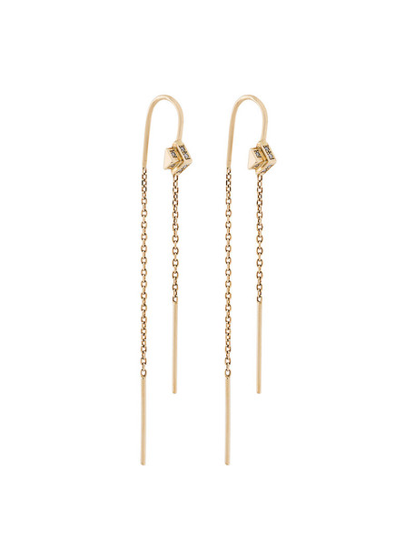 Maria Black women earrings gold grey metallic jewels