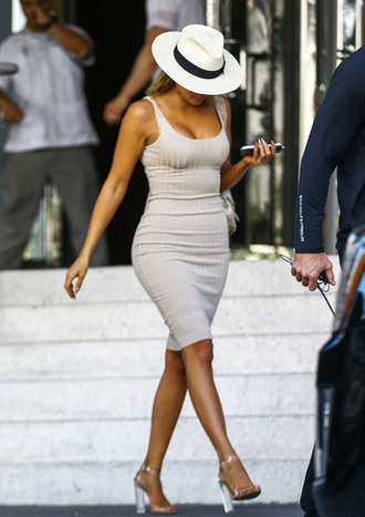 dress khloe kardashian bodycon dress midi dress summer dress summer outfits kardashians hat