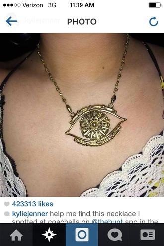 jewels necklace eye gold jewelry