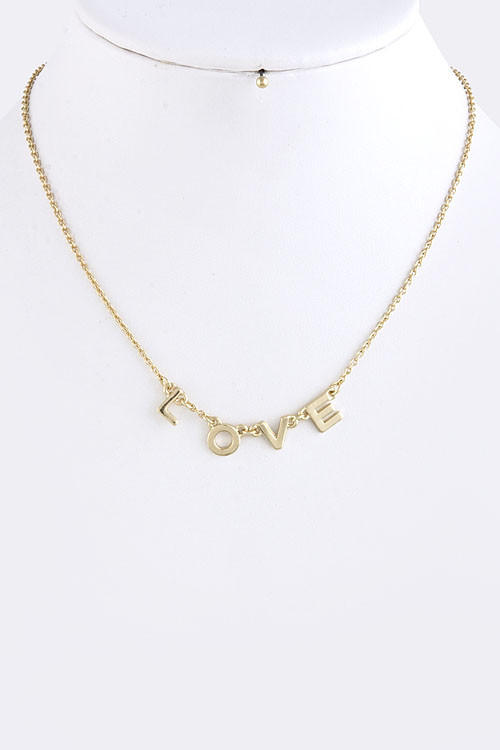 All You Need Is Love Letter Link Necklace