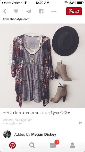 dress grey dress boho dress boho chic short dress summer dress shoes cardigan