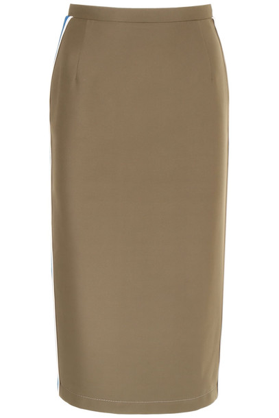 N.21 Cotton Skirt With Side Bands